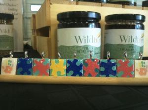 My autism awareness scrabble tile pendants